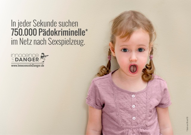 Innocence in Danger Sex Spielzeug Kindesmissbrauch Sexpuppe