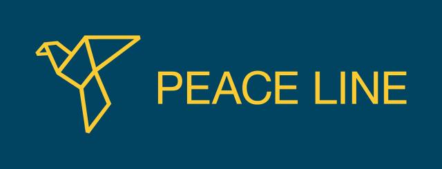 PeaceLine_logo_online_yellow_blue